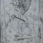 Schlossbrücke - Radierung von Susanne Haun - Vernis Mous - 15 x 10 cm - 2006