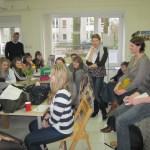 20 Schüler bei uns im Atelier - Foto von Susanne Haun