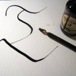 Ich zeichne ein T im Schrifttyp Fraktur - Foto von Susanne Haun
