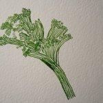Entstehung Krokusse - ich beginne mit dem Blütenstempel - Susanne Haun