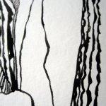Unterschiedliche Linien - Ausschnitt Zeichnung von Susanne Haun