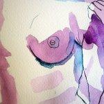 Ja - damit kann ich gut arbeiten - Entstehung Zeichnung von Susanne Haun