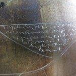Auf der dritten Platte setze ich Schrift in die Blütenblätter - Susanne Haun
