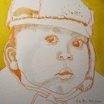 Julian - Zeichnung von Susanne Haun - 20 x 20 cm - Tusche auf Bütten