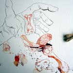 Ich lege die Knochen, um die Komposition zu vervollständigen - Susanne Haun