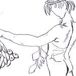 Stuck - Zeichnung von Susanne Haun - Tusche auf Hahnemühle Postkarte