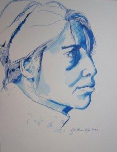 Lisa Mc Neal - Zeichnung von Susanne Haun - 30 x 24 cm - Tusche auf Bütten