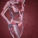 2009: Position - Zeichnunge von Susanne Haun - 80 x 60 cm - Acryl und Ölkreide