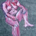 2007: Selbstbewußt - Zeichnung von Susanne Haun - 80 x 60 cm - Acryl und Ölkreide