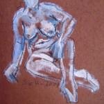 2007: Entspannt - Zeichnung von Susanne Haun - 80 x 60 cm - Acryl und Ölkreide