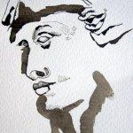 Entstehung Ruhe nach dem Streit - Zeichnung von Susanne Haun - 15 x 10 cm - Tusche auf Bütten