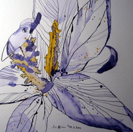 Rechts ist es mir zu leer - deshalb noch ein kleines Blütenblatt - Susanne Haun