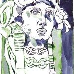 Bülowstraße Version 2 - Zeichnung von Susanne Haun - 17 x 22 cm - Tusche auf Bütten