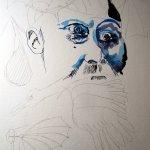 Weiterentwicklung des Portrait von Otto Lilienthal, Zeichnung von Susanne Haun, 40 x 30 cm Hahnemühle Bütten