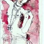 Tagebucheintragung 2006 07 25 - Zeichnung von Susanne Haun - Tusche auf Silberburg