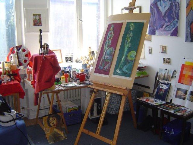 2002 - 2005 war hier in Reinickendorf mein Atelier - Foto von Susanne Haun