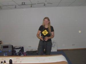 Petra ist der zweite Besucher - Foto von Susanne Haun