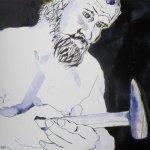 Culann der Schmied - Zeichnung von Susanne Haun