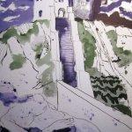 Vor dem Thor - Zeichnung von Susanne Haun
