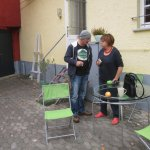 Andreas mit der Verantwortlichen der Akademie Altenahr Marcella di Blasi - Foto von Susanne Haun
