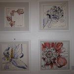 Vier Blume - Zeichnungen von Susanne Haun bei Angelika Blaeser