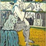 Im Schuhladen 5 - Radierung von Susanne Haun - 3 Platten Aquatinta - 20 x 15 cm - 2005