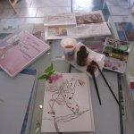 Ich habe mich auf Marcella di Blasis Schreibtisch ausgebreitet - Danke Marcella! - Foto von Susanne Haun