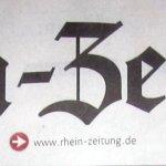 Gestern Morgen erschien ein Artikel über mich und meine Ausstellung in der Rhein-Zeitung