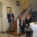 Ausstellung Linienspiele vom Kulturverein Mittelahr Eröffnungsrede vom Bürgermeister - Foto von Suzi Binder