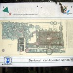 Übersichtskarte von Karl Foersters Garten - Foto von Susanne Haun