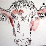 Ich arbeite mich zur Schnauze herunter - Zeichnung von Susanne Haun