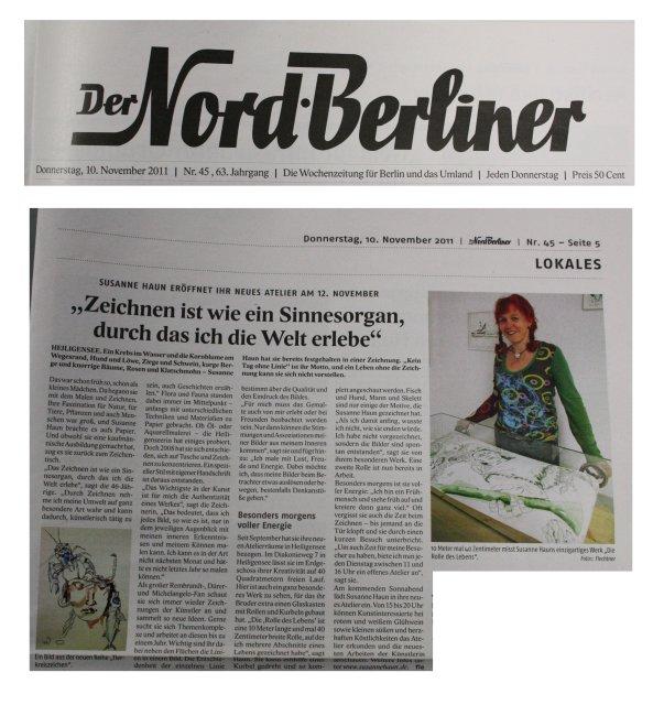 Bericht im Nordberliner über mich - Susanne Haun