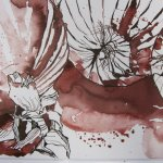 Entstehung drei Zwiebeln - Zeichnung von Susanne Haun