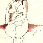 Von Ai Weiwei inspiriert - Zeichnung von Susanne Haun -Tusche auf Bütten - 30 x 20 cm