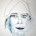 Anlage der Kopfform - Entstehung Enkelin - Zeichnung von Susanne Haun