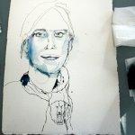 Entstehung Enkelin - Zeichnung von Susanne Haun