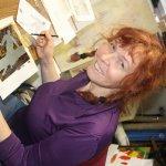 Susanne Haun beim Abdecken - Foto von Cordula Kerlikowski