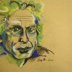 Sinnbild von Steven Pinker - Pastell von Susanne Haun - 30 x 40 cm Hahnemühle Kraftpapier
