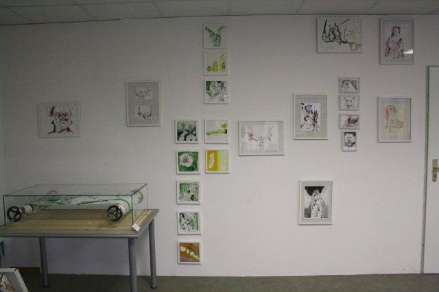 Neue Hängung in meinem Atelier - Foto von Susanne Haun