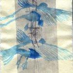 Flügelschwung Version 3 - ÜberZeichnung von Susanne Haun - 30 x 20 cm - Tusche auf Bütten