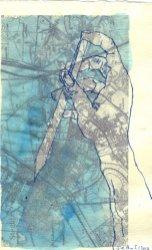 Über Steglitz - ÜberZeichnung von Susanne Haun - Tusche auf Bütten - 30 x 20 cm