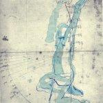 Schweben wie beim Tanzen - Version 4 - ÜberZeichnung von Susanne Haun - Tusche auf Bütten - 40 x 30 cm