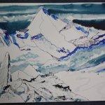 Entstehung Sehnsuchtsberg (c) Zeichnung von Susanne Haun