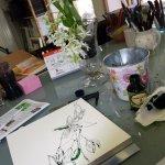 Bild und Modell, Ornithogalum,30 x 30 cm, Version 2 (c) Foto von Susanne Haun