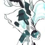Blauregen, 17 x 13 cm, Tusche auf Bütten (c) Zeichnung von Susanne Haun (6)