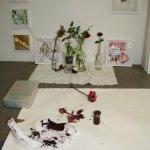 Die Entstehung einer rote Blume beginnt mit einem umgeworfenen Tintenfass (c) Foto von Susanne Haun