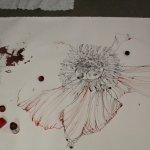 Entstehung einer rote Blume (c) Zeichnung von Susanne Haun (6)