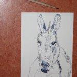 Entstehung Esel (c) Radierung von Susanne Haun