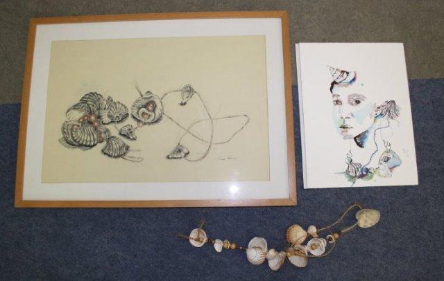 Muschelkette (c) Zeichungen 1999 und 2012 von Susanne Haun