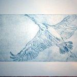 Storch - Radierung von (c) Susanne Haun - 15 x 30 cm